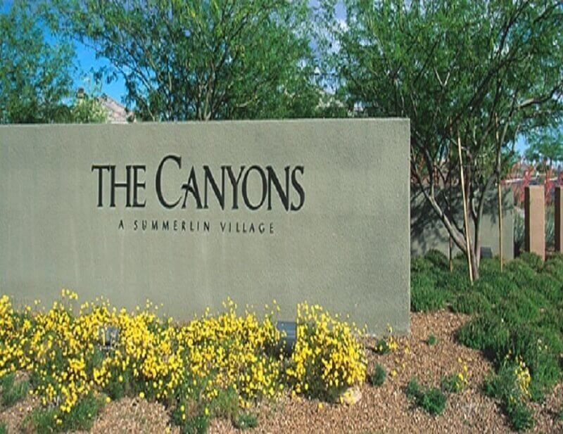 The Canyons Summerlin Las Vegas Homes For Sale